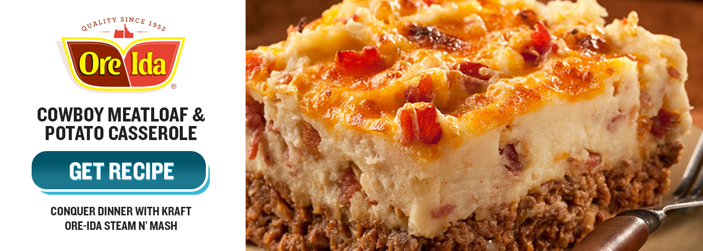 Ore-Ida Cowboy Meatloaf and Potato Casserole